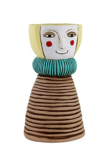 Blonde lady vase/planter