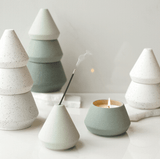 Small Green tree stack- Candle/Incense Holder by Paddywax