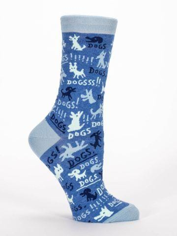 BlueQ-DOGS-Women's crew socks - Gizmo Gifts