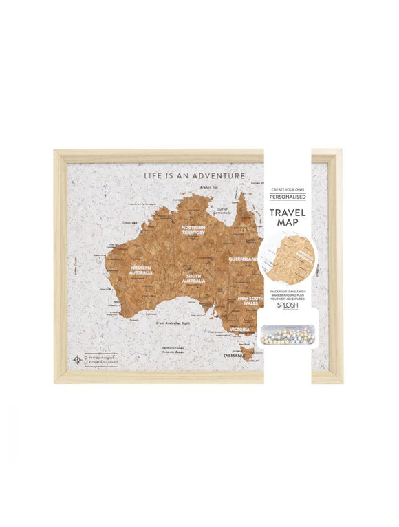 Travel pinboard-Australia map