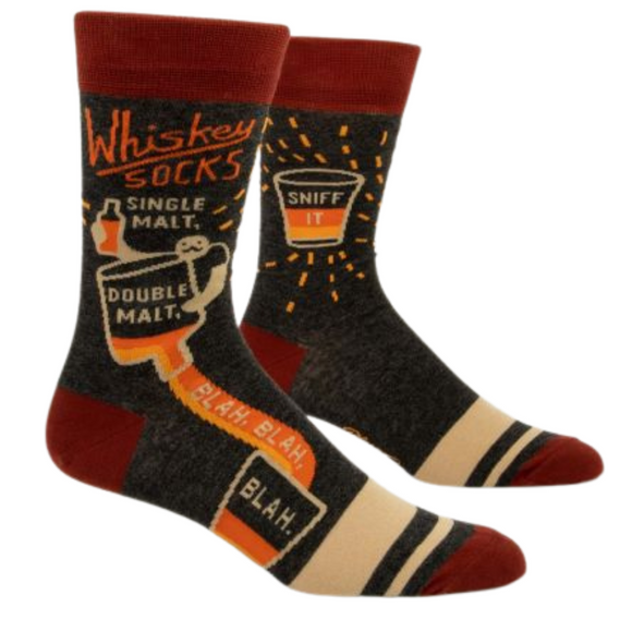 Men's crew Whiskey socks by BlueQ