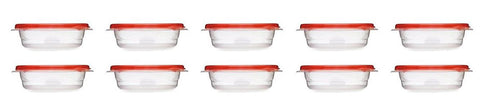 Rubbermaid Take Alongs 2.9 Cup Sandwich Food Storage Container, (Pack of 10)