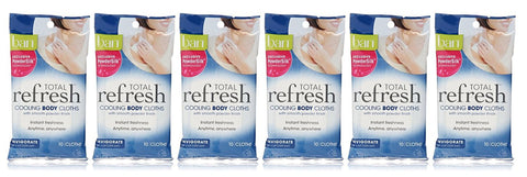 Ban Total Refresh Cooling Body Cloths (Pack of 6)