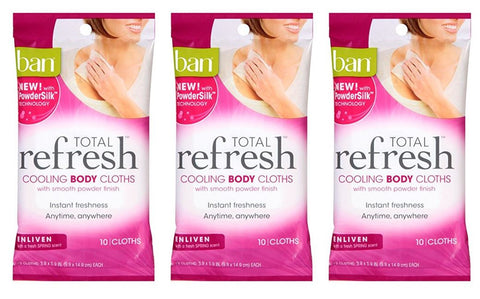 Ban Total Refresh Cooling Body Cloths Enliven (Pack of 3)