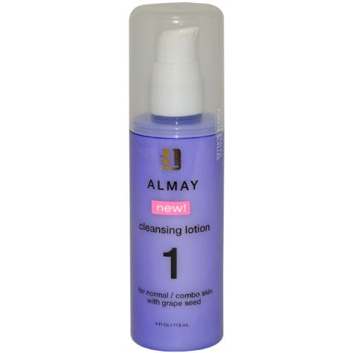 Almay Women Cleansing Lotion 1 for Normal/Combo Skin with Grapeseed, 4 Oz