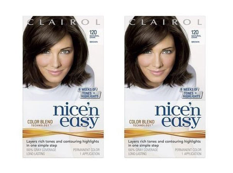 Clairol Nice 'N Easy Color #120 Dark Brown (Pack of 2)