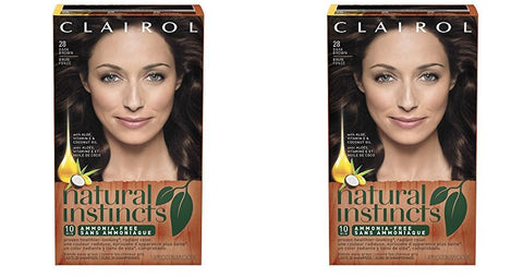 Clairol Natural Instincts Haircolor, Number 28 Nutmeg Dark Brown (Pack of 2)