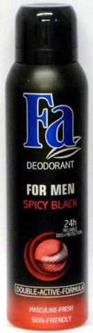 Fa For Men Spicy Black Spray Deodorant 150 ml / 5.07 oz