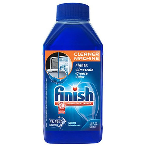 Finish Dishwasher Cleaner Solution Liquid, Fresh Scent, 8.45 Ounce