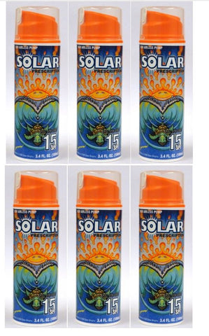 Solar Prescription Sunscreen Lotion SPF 15, 3.4 Oz (Pack of 6)