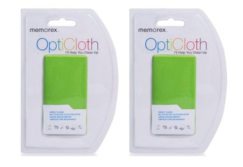 Memorex OptiCloth CD/DVD MicroFiber Cleaning Cloths (Pack of 2)