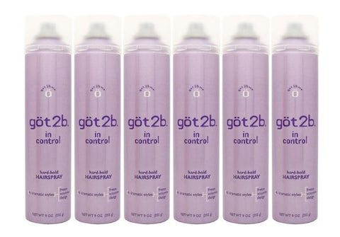 Got 2b in Control Hard-hold Hairspray, 9 Oz (Pack of 6)