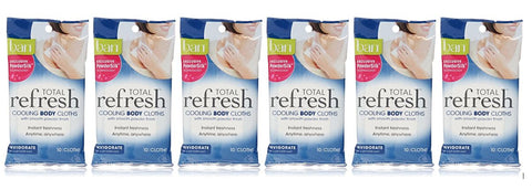 Ban Total Refresh Cooling Body Cloths Invigorate (Pack of 6)