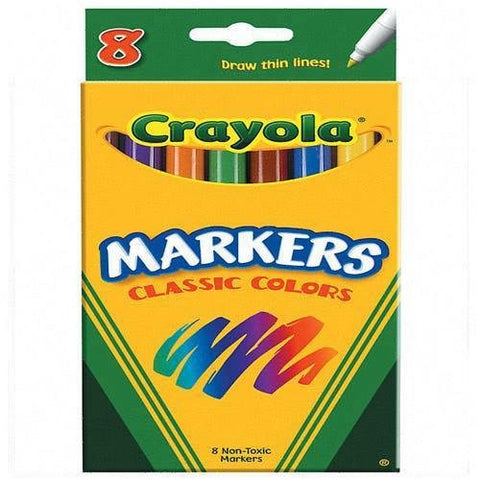 Crayola Classic Colors Non-Washable 8 Water-based Markers