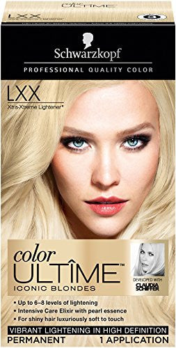 Schwarzkopf Color Ultime Hair Color Cream, LXX Xtra-Xtreme Lightener, 2.03 Ounce