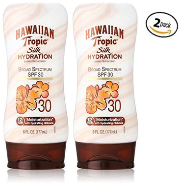 Hawaiian Tropic Sunscreen Broad Spectrum Sun Care Sunscreen Lotion - SPF 30, 6 Ounce (Pack of 2)