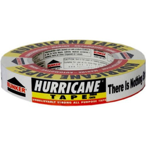 Bunker Industries HT160 Hurricane Heavy Duty Utility Tape, .94-Inch x 60-Yards, White