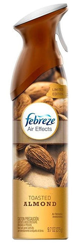 Febreze Air Effects, 9.7 oz Aerosol, Toasted Almond