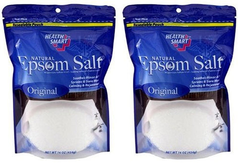 Natural Epsom Salt (Original) 16oz (2 Pack)