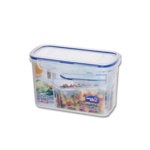 Lock Lock Slender Food Storage Container with Leak Proof Locking Lid, 4.6-Cups, 37 Fluid Ounce