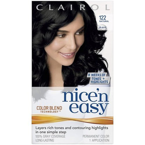 Clairol Nice & Easy Hair Color Treatment # 122 Size 1 Kit