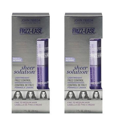 John Frieda Frizz-Ease Sheer Solutions Control, 2 Ounce (2 Pack)