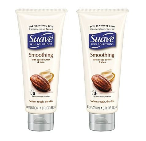 Suave Skin Solutions with Cocoa Butter & Shea Softens Rough & Dry Skin 2.0oz (2 Pack)