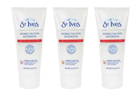 St Ives Intensive Healing Body Moisturizer Spanish Label (Pack of 3)