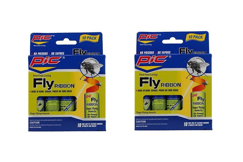 Pic FR10B Sticky Fly Ribbons, 10 Count (Pack of 2) 20 Count