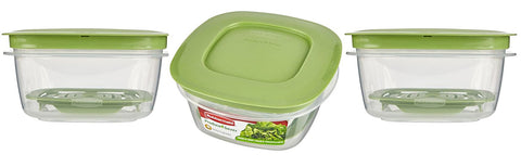 Rubbermaid Produce Saver Food Storage Container, 5-Cup (Pack of 3)
