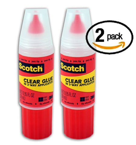 Scotch Clear Glue in 2-way Applicator 95 Ounces (Pack of 2)
