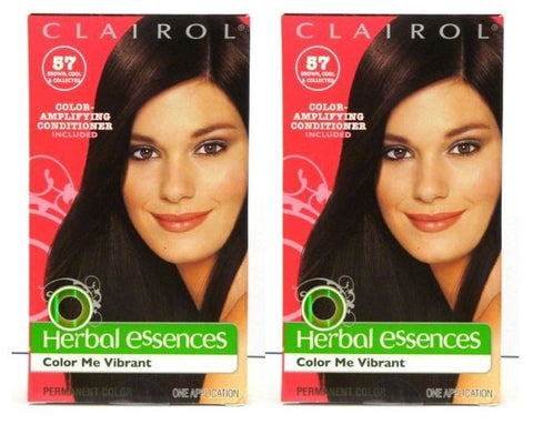 Clairol Herbal Essences Color Me Vibrant #57 Brown Cool & Collected, Medium Cool Brown (Pack of 2)