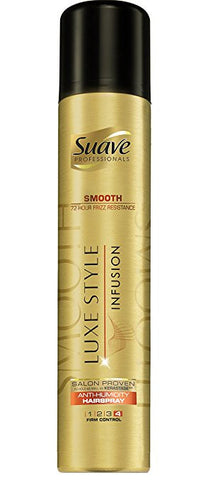 Suave Professionals Hairspray, Luxe Styling Infusion Smooth Anti-Humidity 8.5 oz