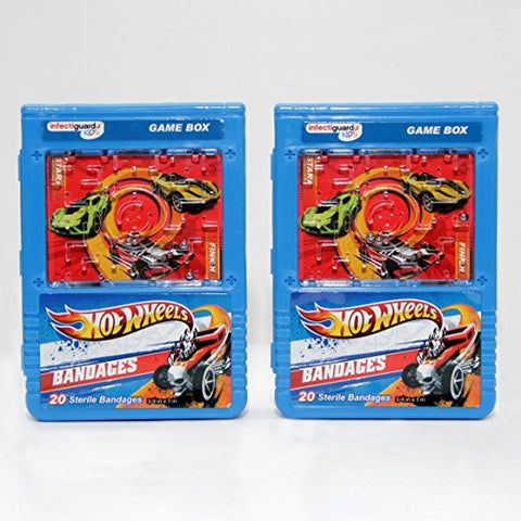 Infectiguard Kids Hot Wheels 40 Sterile Bandages (2 Boxes)