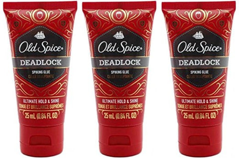 Old Spice Deadlock Spiking Glue, Travel Size, .84 Ounces / 25 Ml (Pack of 3)