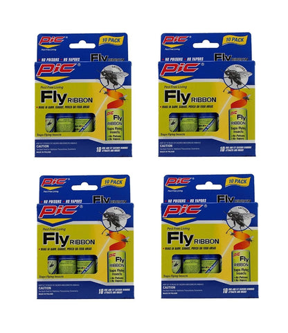Pic FR10B Sticky Fly Ribbons, 10 count (Pack of 4) 40 Count