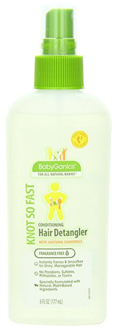 BabyGanics Conditioning Hair Detangler, 6 Fluid Ounce, Packaging May Vary