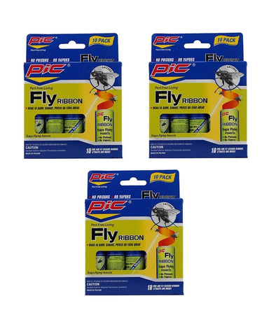 Pic FR10B Sticky Fly Ribbons 10 Count (Pack of 3) 30 Count