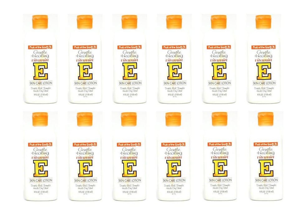 Fruit of The Earth Vitamin-E Skin Care Lotion 4 oz. (Pack of 12)