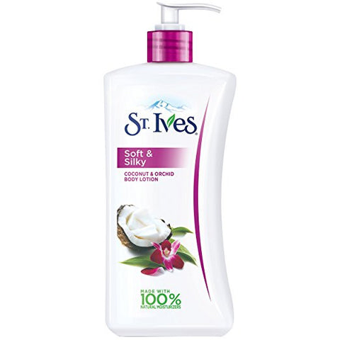 St. Ives Soft & Silky Body Lotion, Coconut and Orchid 21 oz
