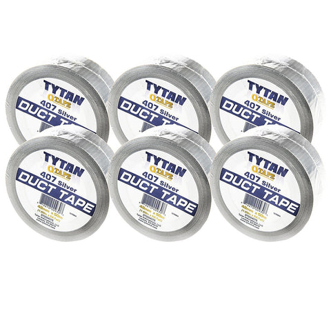 TYTAN Qtape Silver DUCT TAPE, 1.8-inch wide x 54-yard long, Professional Utility Binding Tape, 3 Big Rolls (Pack of 6)