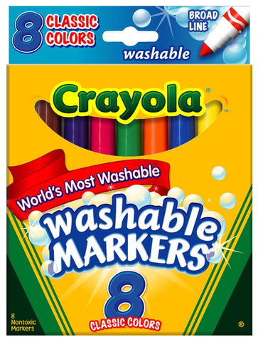 Crayola 8 Classic Colors Washable Water-based Markers