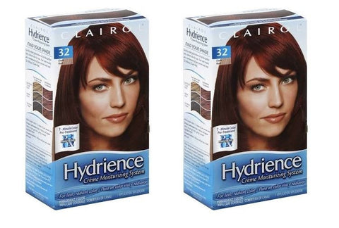 Clairol Hydrience #32 Hibiscus, Dark Red Hair Color (Pack of 2)
