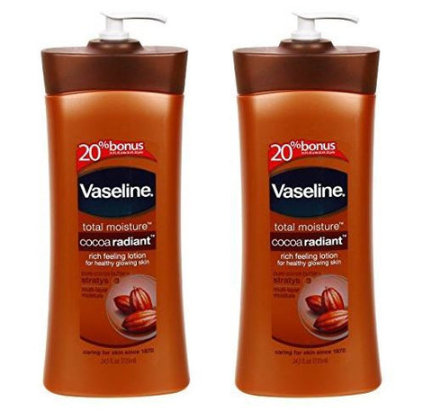 Vaseline Total Moisture Cocoa Radiant Rich Feeling Lotion, 24.5 Oz (Pack of 2)