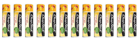 ChapStick Tropical Paradise Collection, Mango Sunrise, 12-Stick Refill Pack