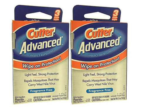 Cutter Advanced Insect Repellant Wipes (2 Pack)