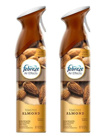 Febreze Air Effects - Limited Edition - Toasted Almond - Net Wt. 9.7 OZ Each - (Pack of 2)