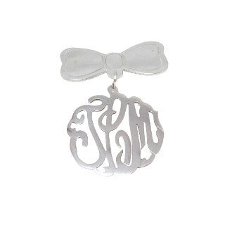 Monogram Baby Pin - Temptic Personalized Jewelry - Monograms - Name Plates - Name Bars - Silver and Gold