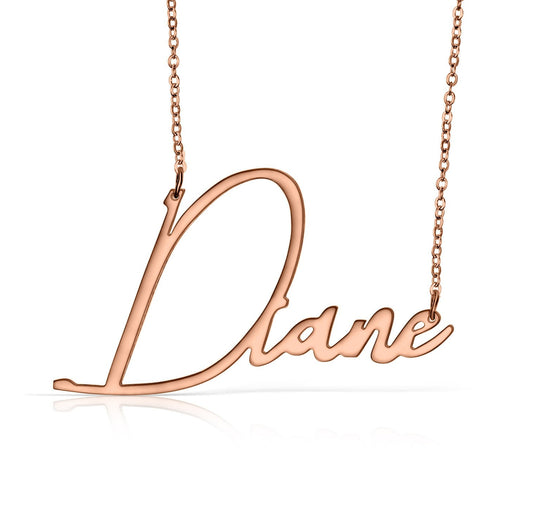 Rose Gold Vermeil Handwritten Name Necklace