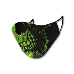 Green Skull Magic Ink Mask